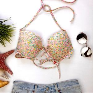 Victoria's Secret Speckled Bikini Top multi color